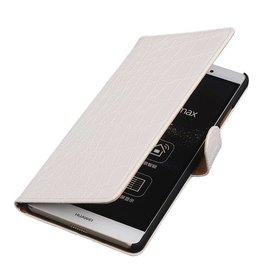 iHoez.nl Croco Sony Xperia Z4 Compact Wit Boekhoesje