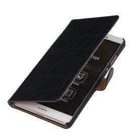 iHoez.nl Croco Sony Xperia Z4 Compact Zwart Boekhoesje