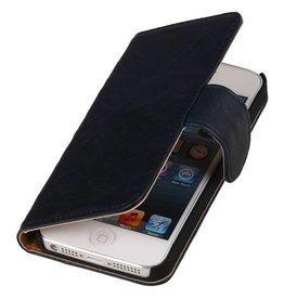iHoez.nl Donker Blauw - Apple iPhone 4 / 4S Leren Boekhoesje
