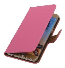 iHoez.nl Roze Samsung S6 Edge Plus hoesje