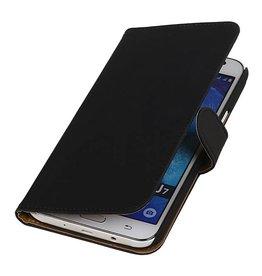 iHoez.nl Classic Samsung Galaxy J7 hoesje Boek Zwart