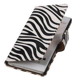 iHoez.nl Zebra Sony Z5 hoesje Wit
