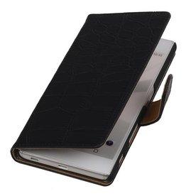 iHoez.nl Croco Sony Z5 hoesje Zwart
