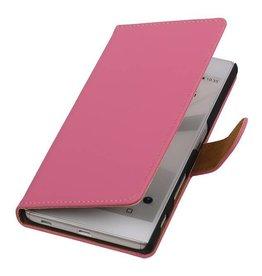 iHoez.nl Roze boek hoesje Sony Z5