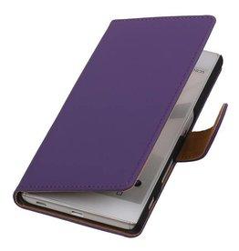 iHoez.nl Paars boek hoesje Sony Z5