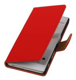 iHoez.nl Rood boek hoesje Sony Z5