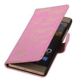 iHoez.nl Lace Huawei P8 Lite hoesje Boek Classic Roze
