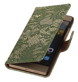 iHoez.nl Lace Huawei P8 Lite hoesje Boek Classic Groen