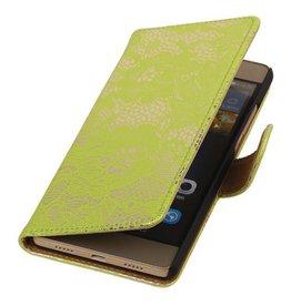 iHoez.nl Lace Huawei P8 Lite hoesje Boek Classic Licht Groen