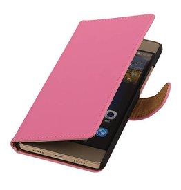 iHoez.nl Huawei P8 Lite hoesje Boek Roze