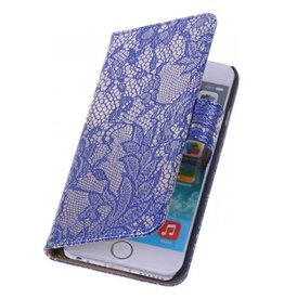 iHoez.nl Lace iPhone 6 Plus hoesje boek Classic Blauw
