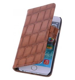 iHoez.nl Coco iPhone 6 Plus hoesje boek Classic Bruin