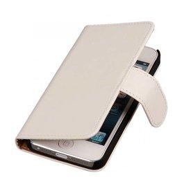 iHoez.nl Effen iPhone 6 Plus hoesje boek Classic Wit