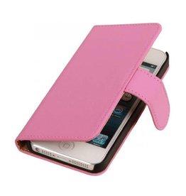 iHoez.nl Effen iPhone 6 Plus hoesje boek Classic Roze