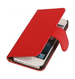 iHoez.nl Effen iPhone 6 Plus hoesje boek Classic Rood