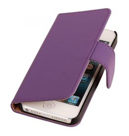 iHoez.nl Effen iPhone 6 Plus hoesje boek Classic Paars