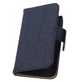 iHoez.nl Croco iPhone 6 Plus hoesje boek Classic Zwart