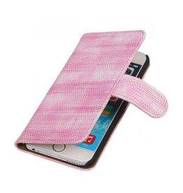 iHoez.nl Lizard iPhone 6 Plus hoesje boek Classic Pink