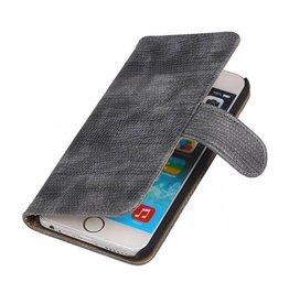 iHoez.nl Lizard iPhone 6 Plus hoesje boek Classic Grijs