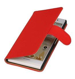 iHoez.nl Huawei P6 hoesje Rood Boek Classic