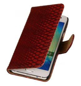 iHoez.nl Snake Samsung Galaxy A5  Boekhoesje Rood