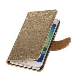 iHoez.nl Lace Samsung Galaxy A3 Boekhoesje Goud