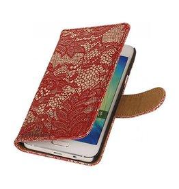 iHoez.nl Lace Samsung Galaxy A3 Boekhoesje Rood