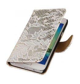 iHoez.nl Lace Samsung Galaxy A3 Boekhoesje Wit
