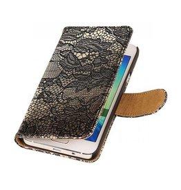 iHoez.nl Lace Samsung Galaxy A3 Boekhoesje Zwart