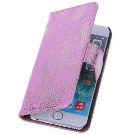 iHoez.nl Lace Huawei Ascend G6 4G Roze Boekhoesje