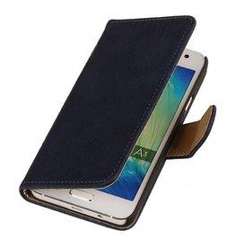 iHoez.nl Bark Samsung Galaxy A3 Boekhoesje Diep Blauw