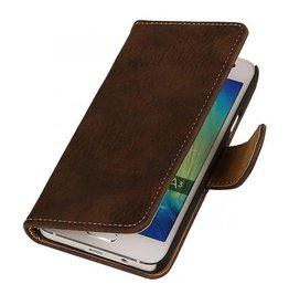 iHoez.nl Bark Samsung Galaxy A3 Boekhoesje Donker Bruin