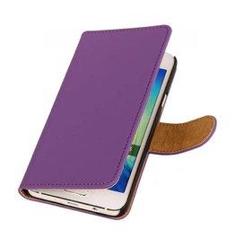 iHoez.nl Effen Samsung Galaxy A3 Boekhoesje Paars