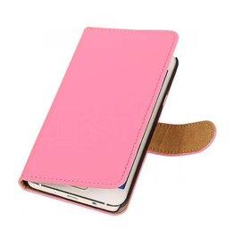 iHoez.nl Effen Samsung Galaxy A3 Boekhoesje Roze