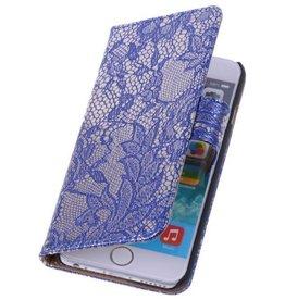 iHoez.nl Lace Huawei Ascend G6 4G Blauw Boekhoesje