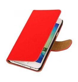 iHoez.nl Effen Samsung Galaxy A3 Boekhoesje Rood