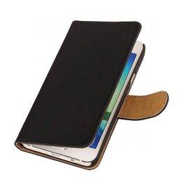 iHoez.nl Effen Samsung Galaxy A3 Boekhoesje Zwart