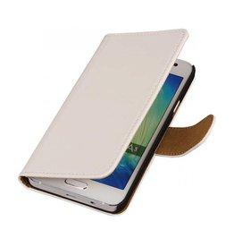 iHoez.nl Effen Samsung Galaxy A3 Boekhoesje Wit