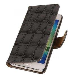 iHoez.nl Croco Samsung Galaxy Grand Prime Grijs