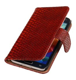 iHoez.nl Snake Bookstyle Samsung S5 hoesje Rood