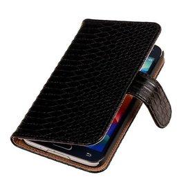 iHoez.nl Snake Bookstyle Samsung S5 hoesje Zwart
