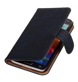 iHoez.nl Bark Bookstyle Samsung S5 hoesje Donker Blauw