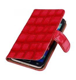 iHoez.nl Croco Samsung Galaxy Note 3 Neo Boekhoesje Roze