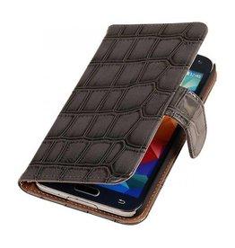 iHoez.nl Croco Samsung Galaxy Note 3 Neo Boekhoesje Grijs