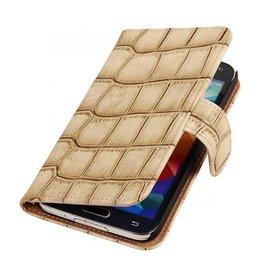 iHoez.nl Croco Samsung Galaxy Note 3 Neo Boekhoesje Beige