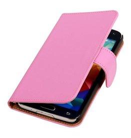 iHoez.nl Effen Bookstyle Samsung S5 hoesje Roze