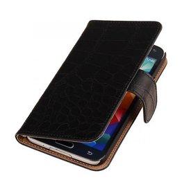 iHoez.nl Croco Samsung Galaxy Note 3 Neo Boekhoesje Zwart