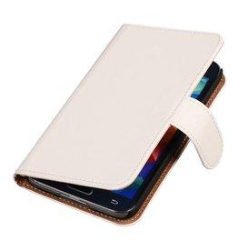 iHoez.nl Effen Bookstyle Samsung S5 hoesje Wit