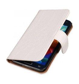 iHoez.nl Croco Samsung Galaxy Note 3 Neo Boekhoesje Wit