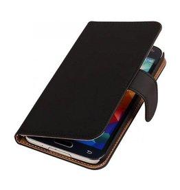 iHoez.nl Effen Samsung Galaxy Note 3 Neo Boekhoesje Zwart